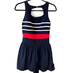 Le Cove Swimsuit Full Coverage striped blue red